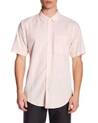 Ezekiel - Pink Button-down Collared Short Sleeve Regular Fit Shirt for Men - Lyst