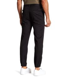 Helmut Lang - Black Elastic Cuff Trouser for Men - Lyst