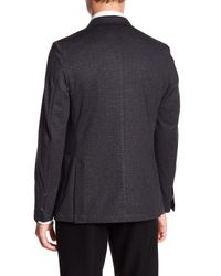 Vince Camuto - Gray Scratch Patterned Notch Collar Double Button Blazer for Men - Lyst