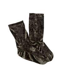 Free People - Metallic Go-go Velvet Socks - Lyst