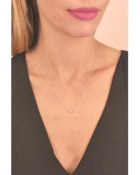 Bony Levy - Metallic 18k White Gold Bezel Set Diamond Curved Bar Pendant Necklace - 0.06 Ctw - Lyst