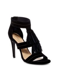 Chinese Laundry - Black Speak Easy Suede Sandal - Lyst