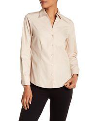 Foxcroft - Natural Lauren Fitted Shirt - Lyst