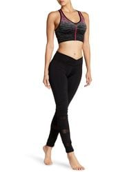 Electric Yoga - Black Slimming Waist Mesh Trim Legging - Lyst