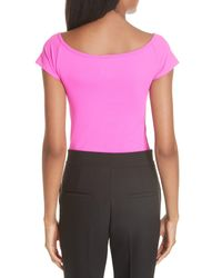 Helmut Lang - Pink Stretch Jersey Tee - Lyst