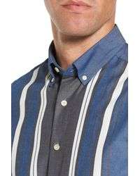 Gant - Blue Tech Slim Fit Varsity Stripe Sport Shirt for Men - Lyst