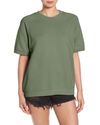 Sincerely Jules - Green Cara Short Sleeve Sweatshirt - Lyst