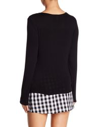 Love, Fire - Black Knot Accent Knit Top - Lyst