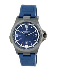 Victorinox - Blue Men's Night Vision Rubber Watch for Men - Lyst
