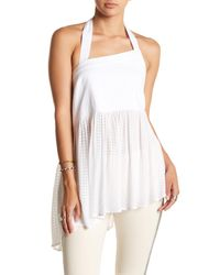 Free People - White Just Can't Get Enough Tank - Lyst
