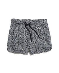Madewell - Blue Print Drapey Pull-on Shorts - Lyst