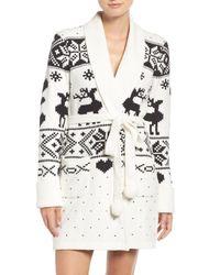 Betsey Johnson | Black Sweater Robe | Lyst