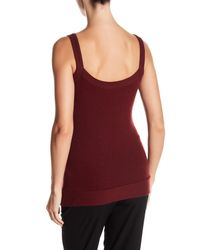 Three Dots - Red Jaylene Ribbed Trim Scoop Neck Cami - Lyst