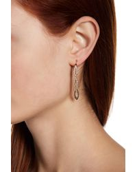 Judith Jack - Metallic Sterling Silver Swarovski Marcasite Embellished Threader Earrings - Lyst