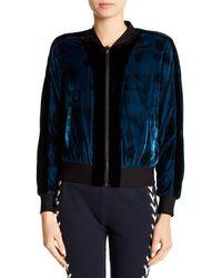 Pam & Gela - Blue Reversible Baseball Jacket - Lyst