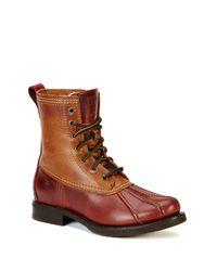 Frye   Brown Veronica Duck Boot   Lyst
