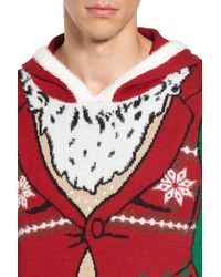 The Rail - Green Santa Hoodie Sweater for Men - Lyst