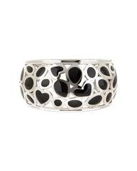 Roberto Coin | Metallic Sterling Silver Mauresque Black Enamel Cuff | Lyst