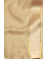 Saachi - Natural Taupe Gold Trim Wrap - Lyst