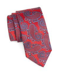 John W. Nordstrom - Red (r) Woven Silk Tie for Men - Lyst