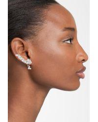 CZ by Kenneth Jay Lane - Multicolor Cz Drop Back Linear Stud Earrings - Lyst