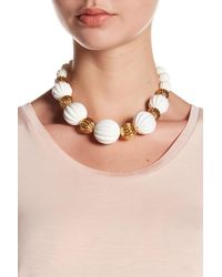 Trina Turk | Multicolor Open & Beveled Bead Necklace | Lyst