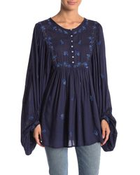Free People - Blue Kiss From A Rose Tunic - Lyst