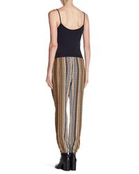 Juicy Couture - Multicolor Silk Houndstooth Drawstring Pants - Lyst