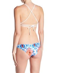L*Space - White Nikki Lace Up Reversible Halter Bikini Top - Lyst