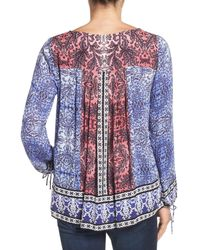 Lucky Brand | Multicolor Border Print Blouse | Lyst