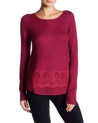 Lucky Brand | Multicolor Lace Mix Sweater | Lyst