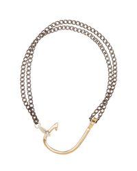 Miansai - Metallic Gold Plated Sterling Silver Hook On Bracelet - Lyst