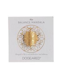 Dogeared - Metallic The Balance Mandala Ring - Lyst