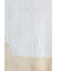 Steve Madden - White Dip Dye Fringe Edge Scarf - Lyst