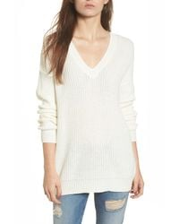 Love By Design - White Lace-up Back Pullover - Lyst
