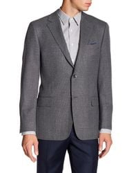 Hickey Freeman - Gray Classic Grey Two Button Notch Lapel Wool Sport Coat for Men - Lyst
