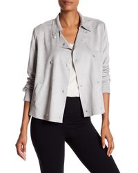 Kut From The Kloth - Gray Faux Suede Double Breast Jacket - Lyst