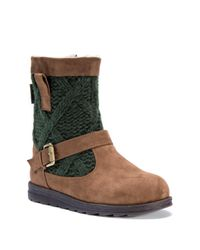 Muk Luks | Green Gina Faux Fur Lined Boot | Lyst