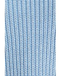 Caslon - Blue Shaker Stitch Cotton Sweater - Lyst
