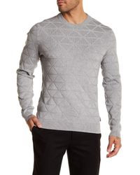 Ted Baker - Gray Matcha Interest Crew Neck for Men - Lyst
