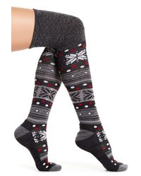 Smartwool | Gray Fiesta Flurry Over-the-knee Socks | Lyst