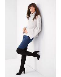 Steve Madden - Black 'emotions' Stretch Over The Knee Boot - Lyst