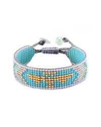 Mishky - Blue Track Arrow Beaded Slide Bracelet - Lyst
