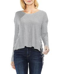 Two By Vince Camuto - Multicolor Lace-up Side Stripe Top - Lyst