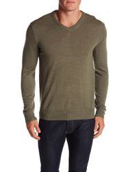 Dockers - Green Merino V-neck Sweater for Men - Lyst