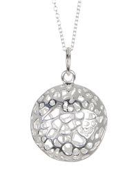 Argento Vivo - Metallic Sterling Silver Filigree Dome Pendant Necklace - Lyst