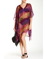 Saachi - Multicolor Multi Animal Print Beach Cover-up - Lyst