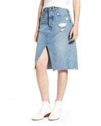 Levi's - Blue Deconstructed Denim Skirt In Original Sinner - Lyst