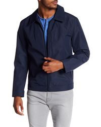 Andrew Marc - Blue Montrose Collared Front Zip Jacket for Men - Lyst
