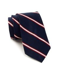 Tommy Hilfiger - Blue Repp Stripe Silk Tie for Men - Lyst